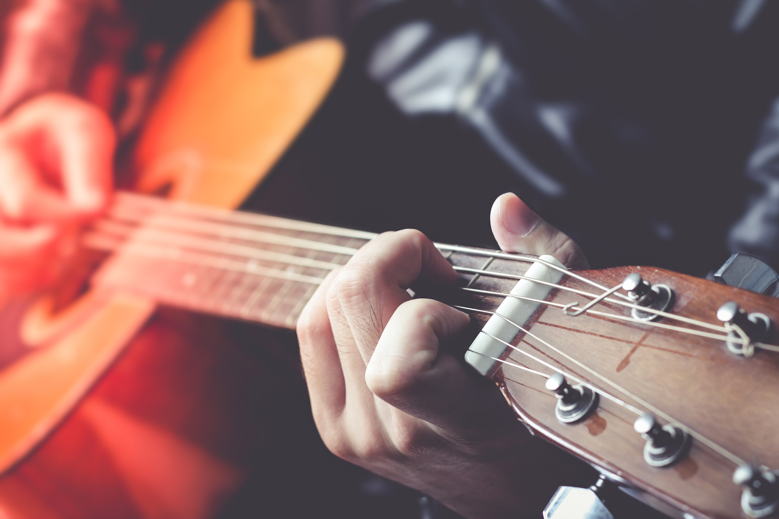 Man Playing Guitar | 3 Simple Steps to Teach Yourself Guitar Chords Today
