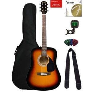 Fender FA-115 Dreadnought Acoustic Guitar - Sunburst Bundle