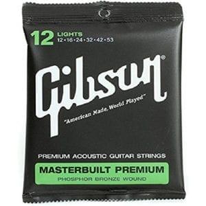 Gibson Masterbuilt Premium Phosphor Bronze Acoustic Guitar Strings, Light 12-53