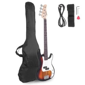 Glarry Electric Bass Guitar Full Size (Sunset)