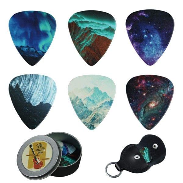 Cheliz 12 Medium Gauge Celluloid Guitar Picks