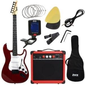 "LyxPro 39"" inch Electric Guitar Beginner Starter Kit Full Size"