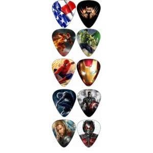 Marvel Comics Standard Guitar Picks (10 pcs)
