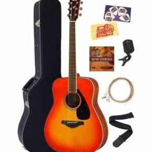 Yamaha FG820 Solid Top Folk Acoustic Guitar Bundle