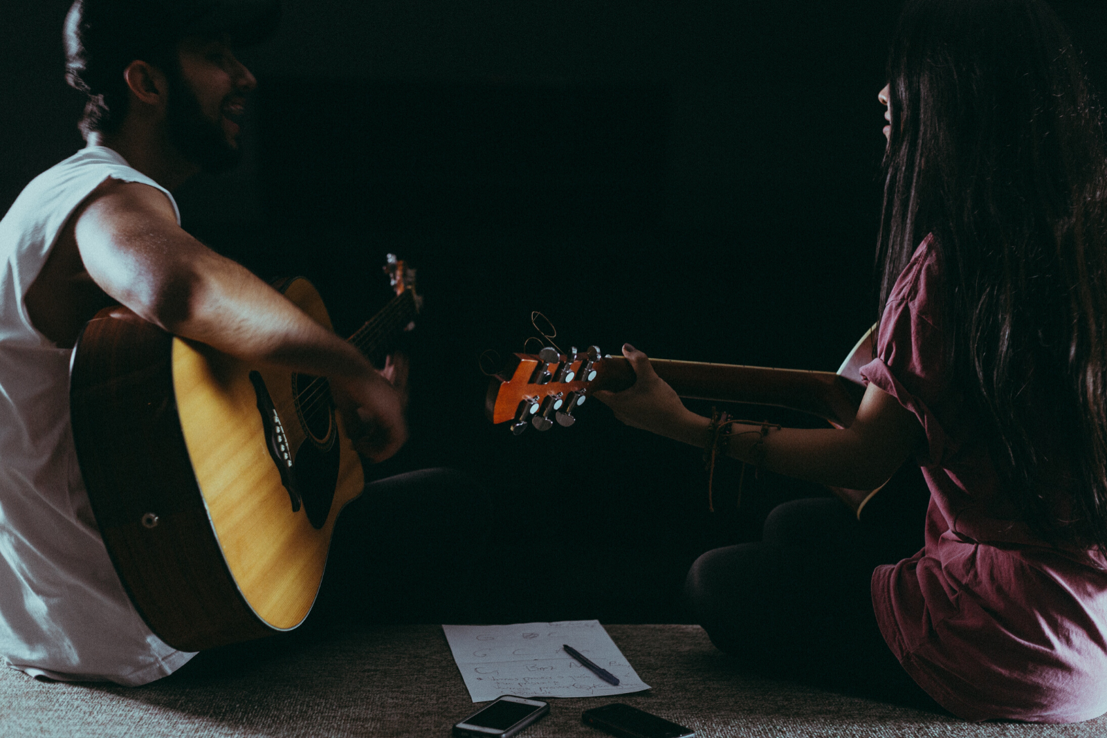 Man and Woman Playing Guitar | Buying A Guitar Online Vs. In-Store: Which Is Best For You?