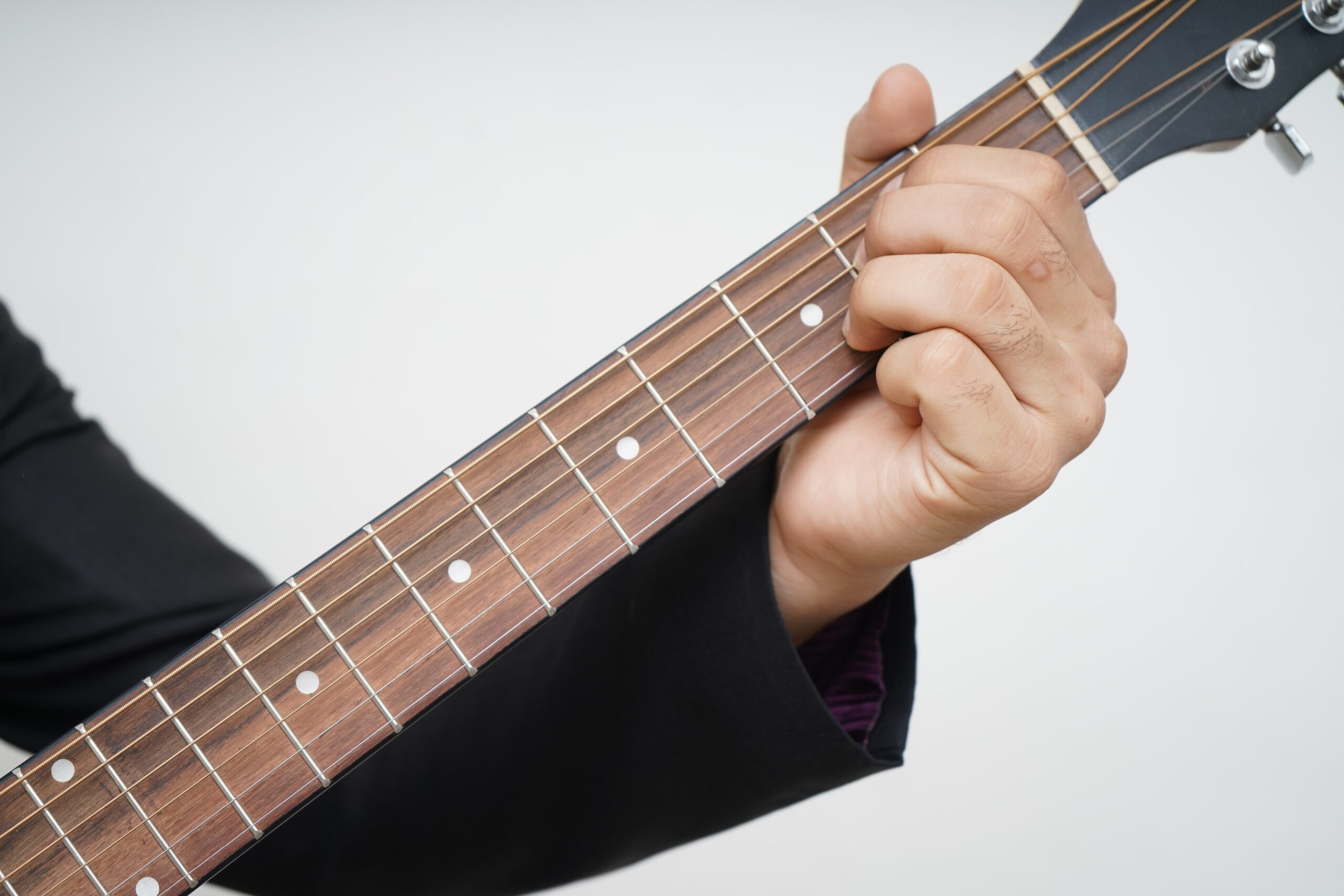 Person Playing Acoustic Guitar | 9 Simple Steps to Teach Yourself Guitar Chords Today