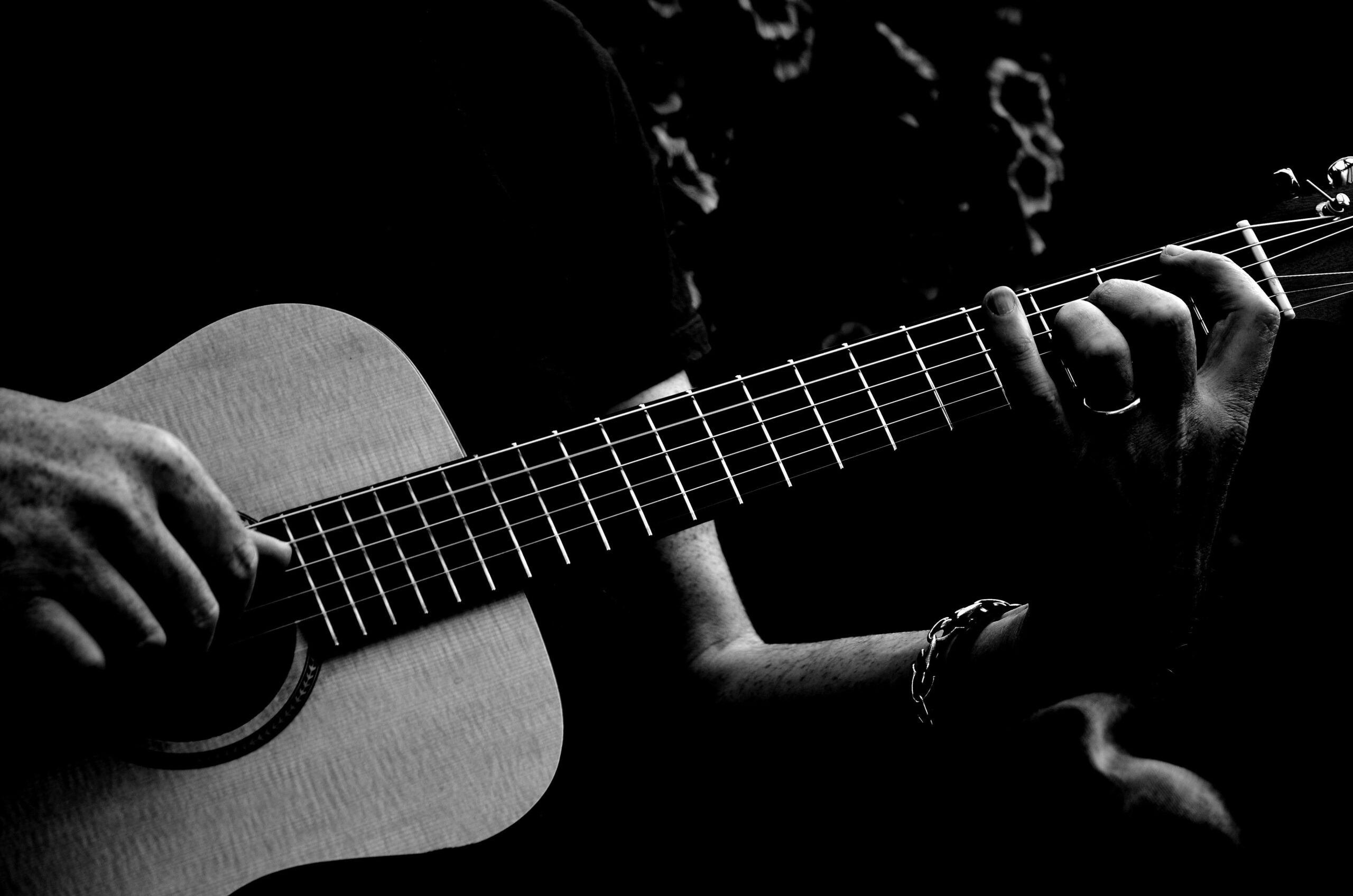 Person Playing Acoustic Guitar | The Top 9 Ways To Practice Acoustic Guitar Techniques