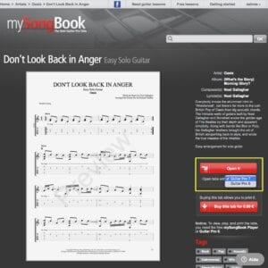 Guitar Pro mySongBook