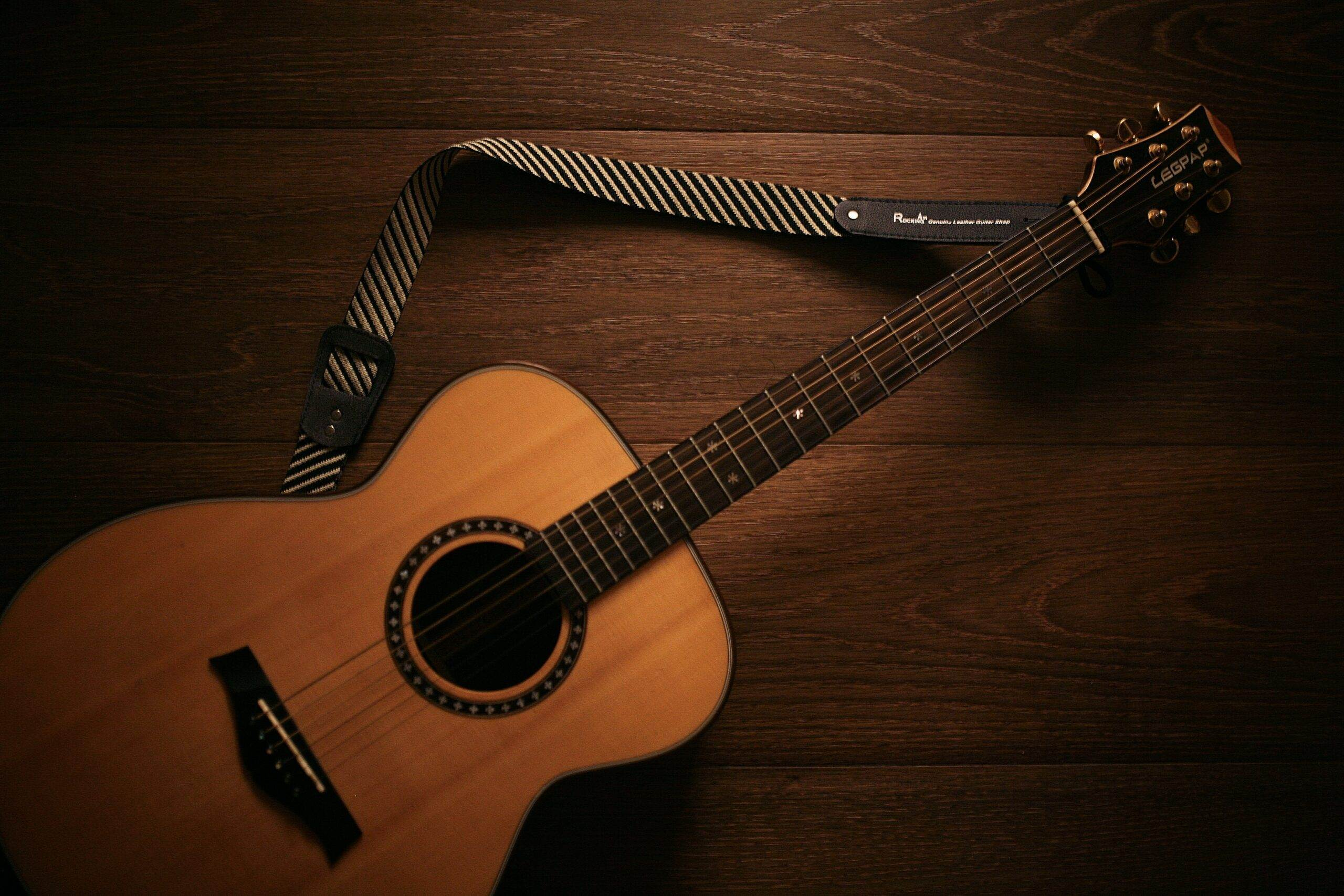 Brown Acoustic Guitar   Best Way To Learn Guitar At Home Today (11 Easy Tips)