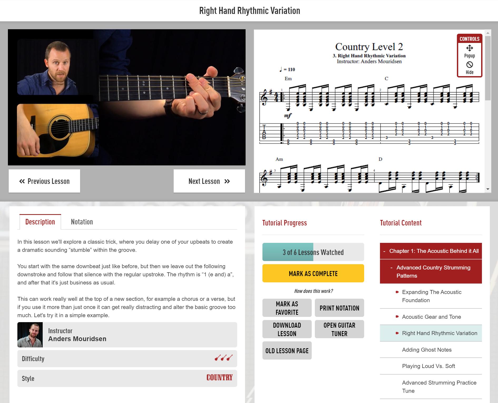 Guitar Tricks - Video Lesson
