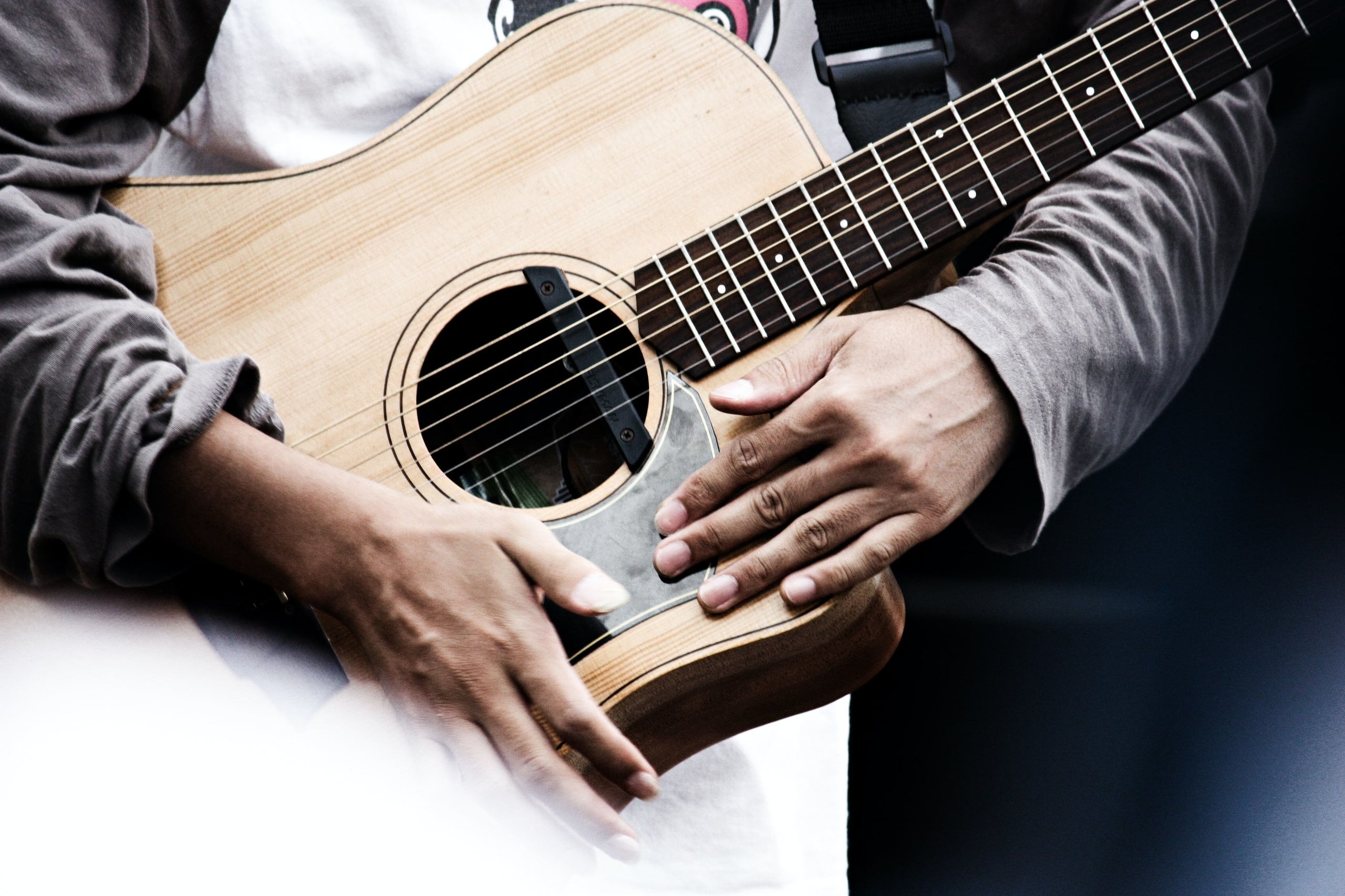 Man Holding Acoustic Guitar | Understanding What Makes The Top 11 Types Of Guitar Unique